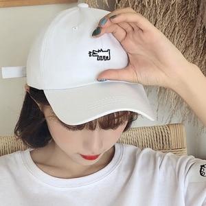 Gorra Mujer 2021 Summer Sun Hat Woman Korean Ulzzang Harajuku Vintage Letters Embroidery Pink Baseball Cap For Women Casual Caps