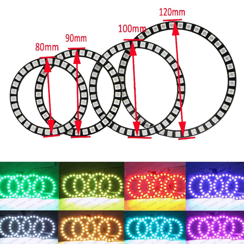 Кольцевая лампа, светодиодная, инфракрасная, RGB, 40 мм, 50 мм, 66, 72 мм, 75 мм, 80 мм, 90 мм, 100 мм, 105 мм, 115 мм, 120 мм, 125 мм, 140 мм