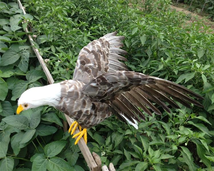 big creative simulation gray eagle model foam&furs wings eagle gift about 90x46cm 0938