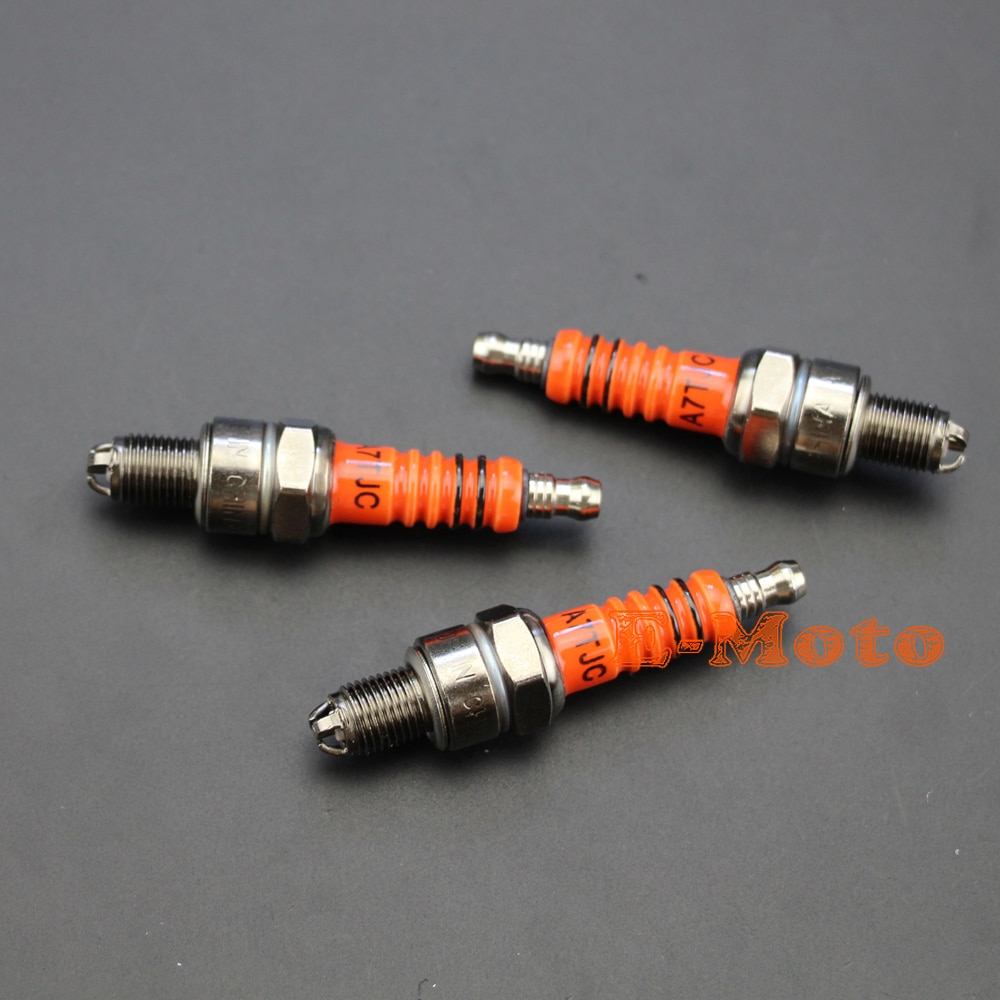 3x Свеча зажигания A7TC A7TJC 3 Электрода GY6 50 до 125cc Мопед Скутер ATV квадроцикл