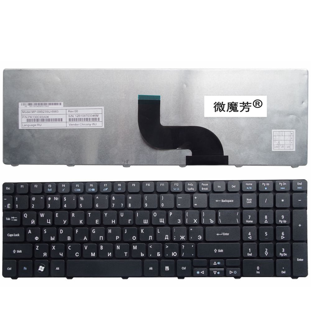 Russian/RU laptop Keyboard for Acer Aspire 5742G 5740 5742 5810T 7735 7551 5336 5350 5410 5536 5536G 5738 5738g 5252 5742Z