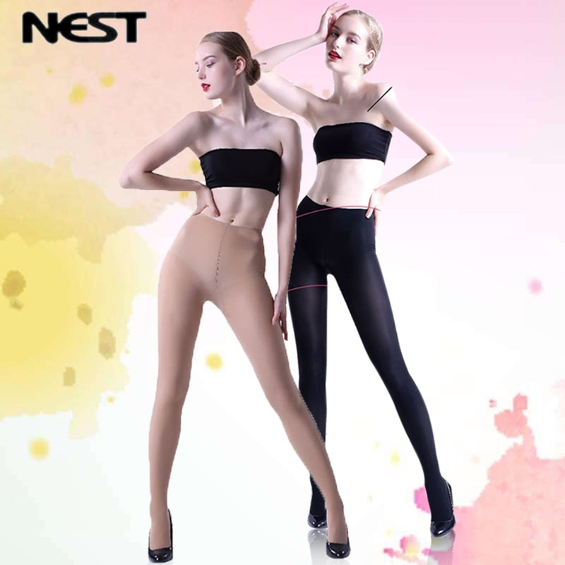 PRÓXIMOS Mulheres Calças Justas Moda Pele Negra Longas Calças Justas de Alta Qualidade Anti-faca LEOHEX Gordura Meias Elásticas Meia-calça Fina