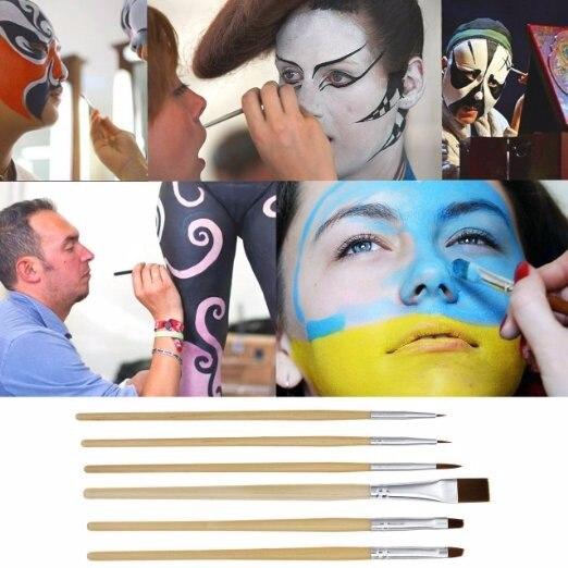 IMAGIC набор кистей для рисования тела, 6 шт., кисть для нанесения краски для лица, набор кистей для макияжа, инструмент