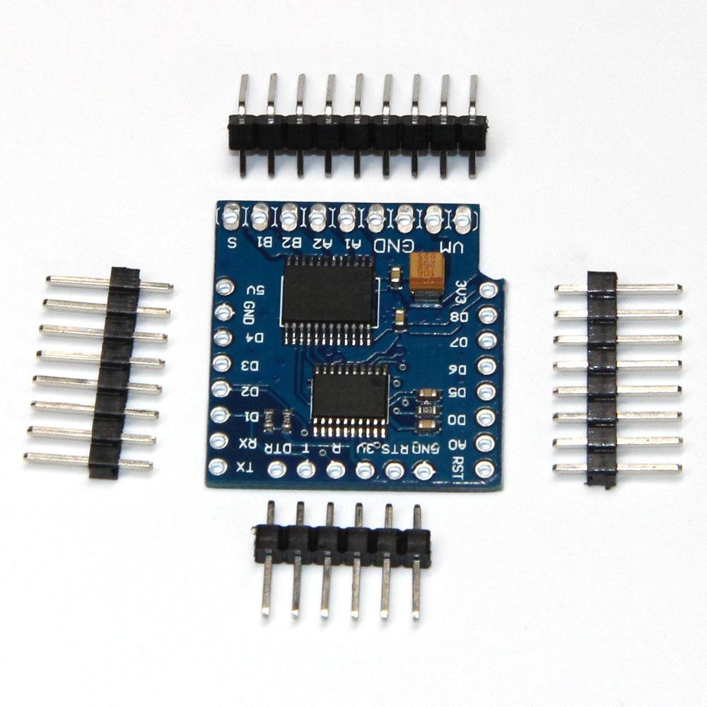10 piezas de Motor escudo para D1 mini I2C de Motor Dual conductor TB6612FNG (1A) V1.0.0