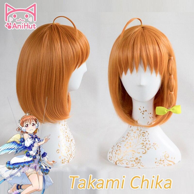 【AniHut】 Chika Takami Anime amor vivo sol Cosplay Peluca de cabello sintético LoveLive! Chika Takami Anime Love Live pelucas de Cosplay