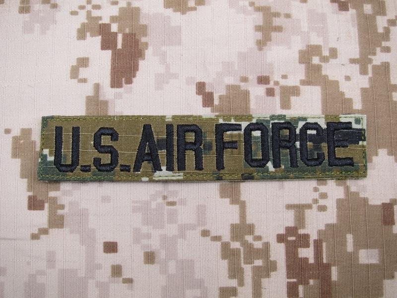 De Région Boisée de Digital U.S.AIR FORCE Poitrine Bande Services Ruban moral tactique militaire Broderie patch Badges Q196
