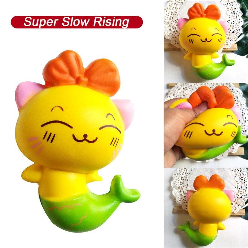 S Squishies Adorable Kitty lento aumento crema apretar perfumada de alivio de estrés juguetes antiestrés Visqueux Squishi juguetes para los niños A1