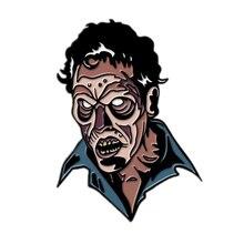 evil ash enamel pin