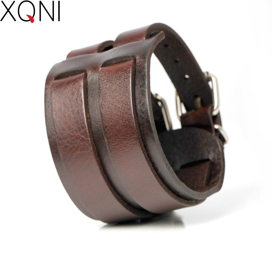 2017 New Fashion Cowboy Style Bandage Genuine Leather Bracelets For Men High Quality Knight Courage Wrap Charm Bracelets.