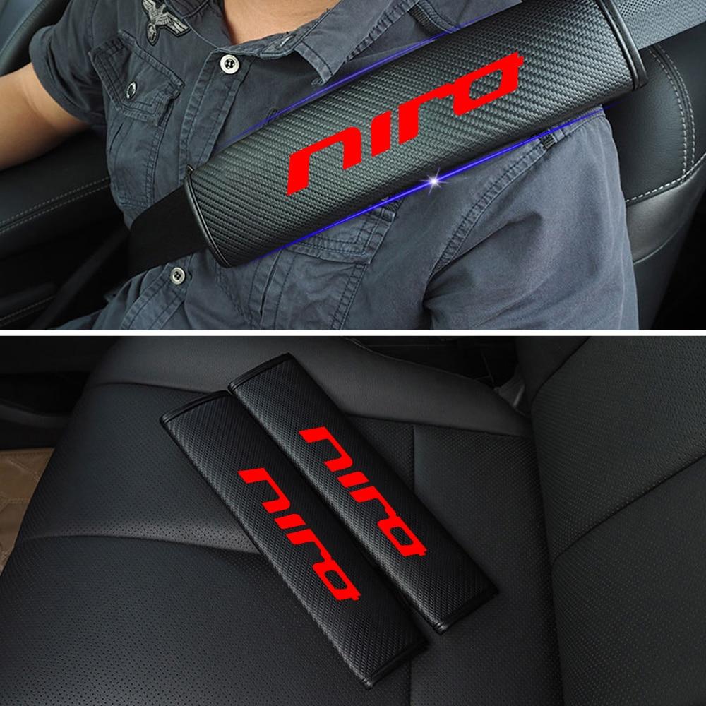 2 PCS Reflective Car cinto de segurança shoulder Pads Cinto de segurança Seguro Para Cobrir kia Niro Stonic Car Styling Auto Peças