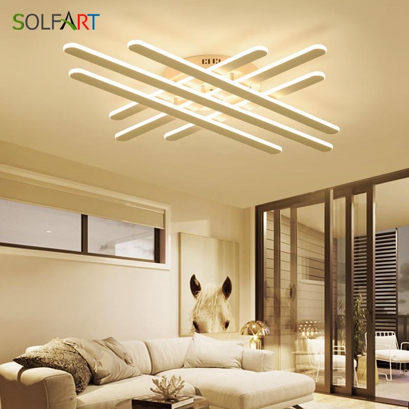 Lámparas LED de techo SOLFART Avize, lámpara Luminaria de atenuación para sala de estar, accesorios de iluminación modernos