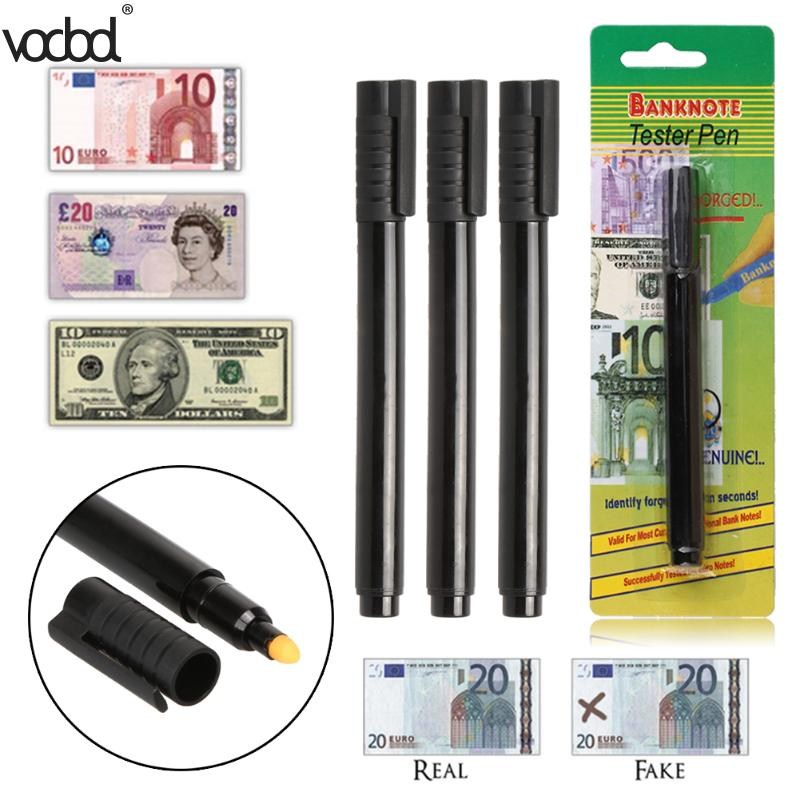 Fake Banknotes Tester Pen Style Water-based New Hot Fast Resolution Money Bill Checker Counterfeit Detector Marker Portable Pen