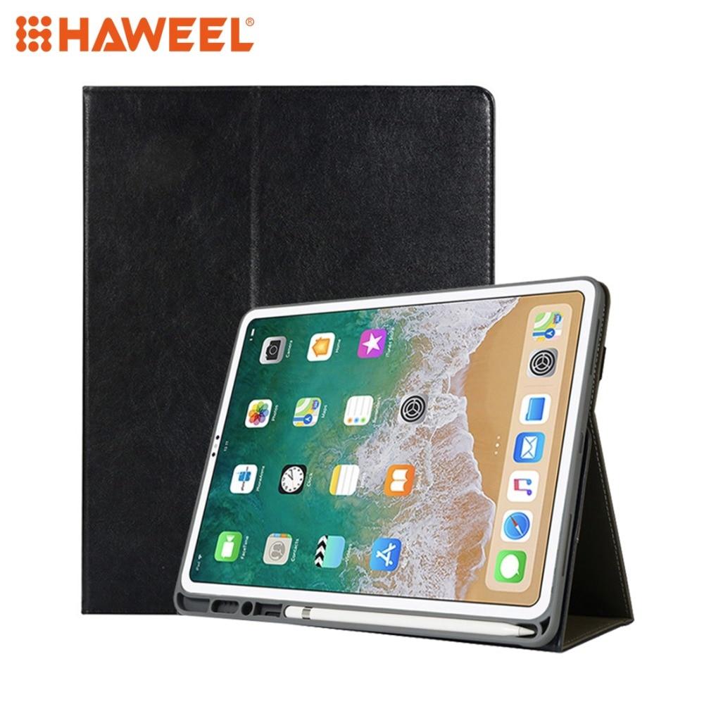 Haweel Tablet funda para iPad Air, iPad Pro 12,9 pulgadas Horizontal Flip PU Funda de cuero con soporte y tarjeta de ranuras y pluma ranura y correa de mano