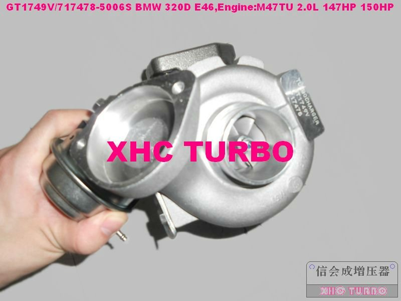 NEW GT1749V/717478 750431 Turbo Turbocharger for BMW 120D 320D E46 520D,X3 M47TU 2.0L 147HP 150HP
