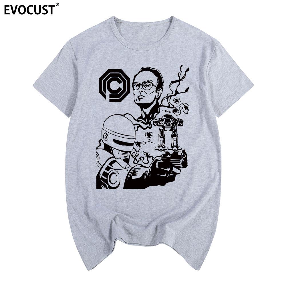 Camiseta Robocop algodón hombres camiseta nueva mujer camiseta divertida moda Fitness Retro Vintage Cult película clásica Fandom cumpleaños