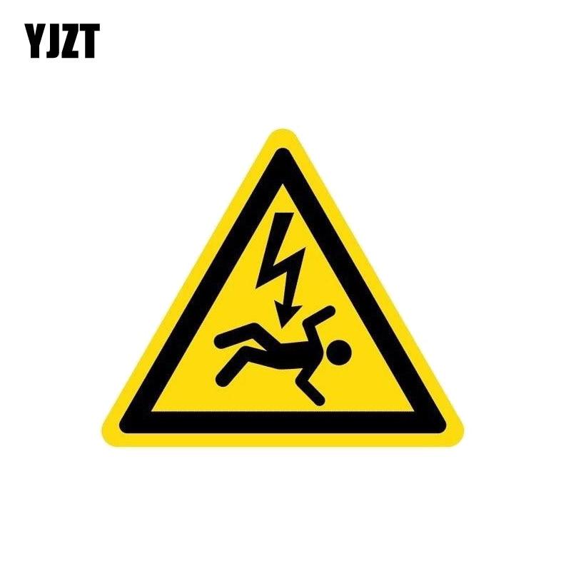 YJZT 12.6CM*11CM Warning Danger Car Sticker Do Not Touch Reflective PVC Decal 12-1065