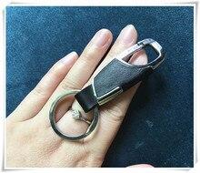 Car refitting accessories Car PU Metal keychain FOR renault megane 2 duster captur kia rio sportage 2017 sorento chevrolet lada