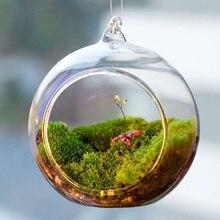 Terrarium Bal Globe Vorm Helder Opknoping Glazen Vaas Bloem Planten Container Ornament Micro Landschap Diy Bruiloft Home Decor