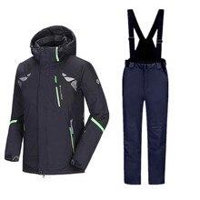 Traje de esquí de invierno para hombre, conjuntos de Snowboard para hombre, chaqueta de esquí para hombre, traje deportivo de invierno para hombre, pantalones de Snowboard para hombre, trajes de Snowboard para hombre gruesos