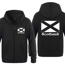 Scottish Flag Scotland Sweatshirts Men 2018 Mens Zipper Hooded Fleece Hoodies Cardigans