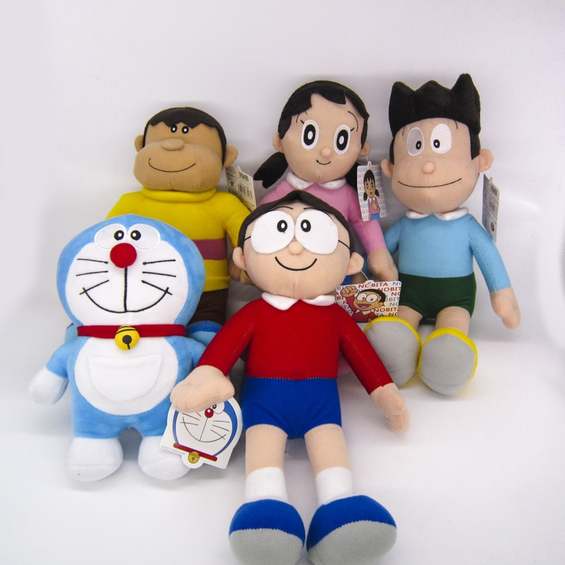 Аниме Doraemon плюшевая кукла Nobita Nobi Doraemon Minamoto Shizuka Konta Takeshi GIANT Honekawa Suneo мультяшная плюшевая игрушка Y599