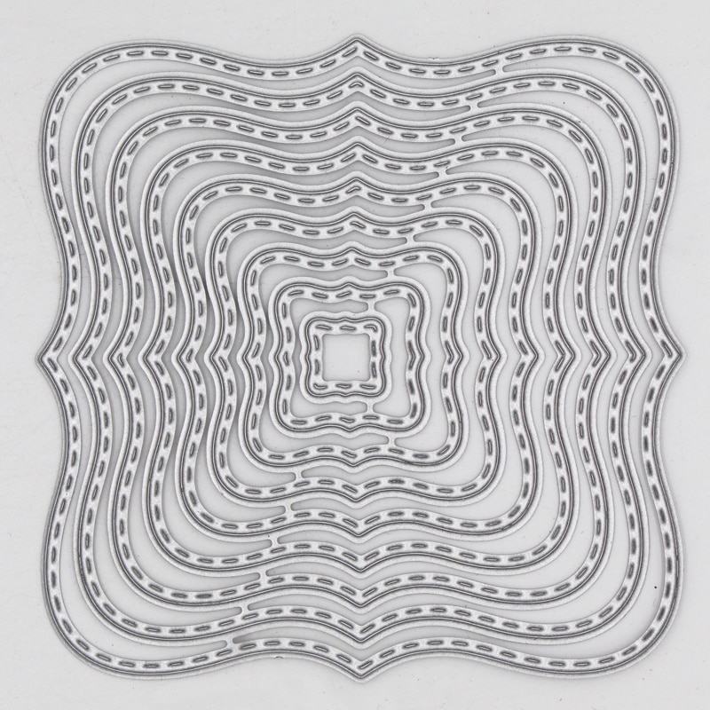 Hollow pattern irregular figure Metal steel Cutting Dies DIY Scrap booking Photo Album Embossing paper Cards 8.1*8.1cm
