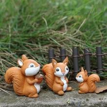 DIY زخرفة المشهد الصغير الجنية حديقة قليلا نموذج ديكور المنزل السنجاب تمثال مصغرة الحيوان
