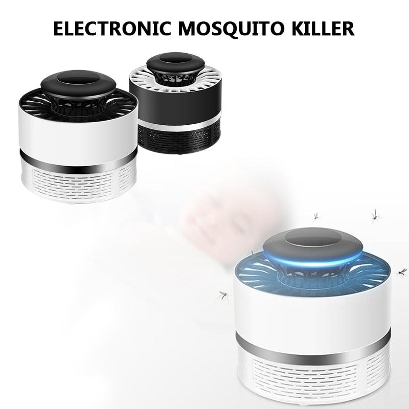 Anti-Mosquito lámpara LED luz hogar Luz Mosquito asesino de plástico volar Nonradiative plagas al aire libre de envío de la gota
