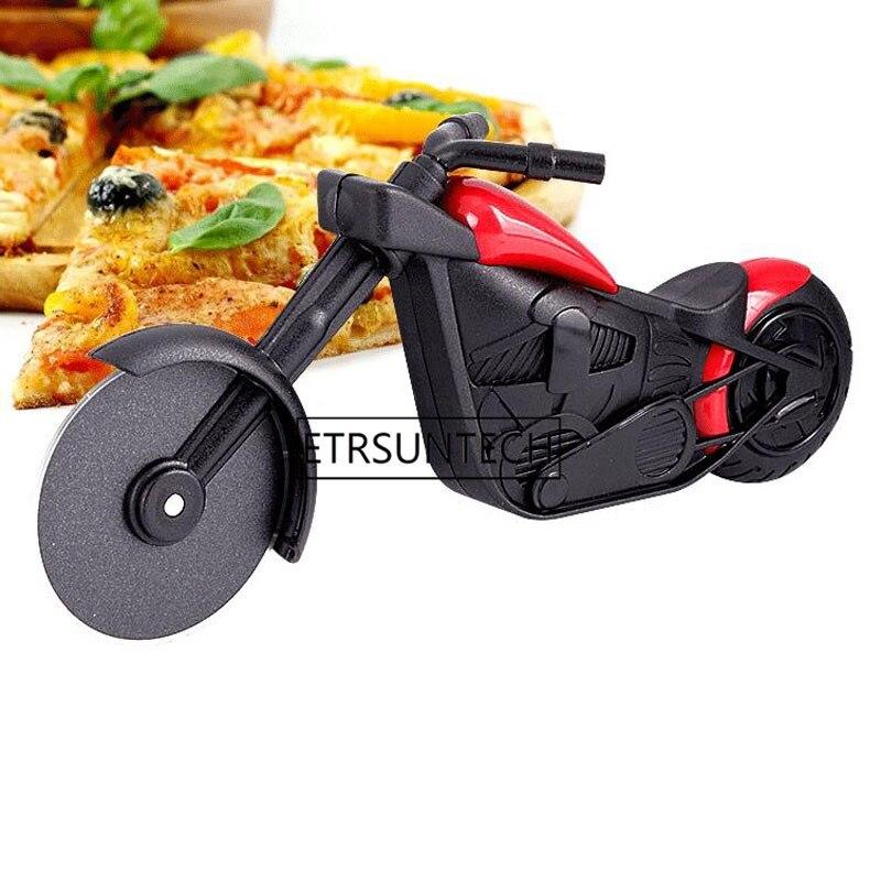 50 piezas cortador de Pizza de motocicleta Acero inoxidable cortador de rueda de Pizza rodillo de motocicleta cuchillos de Pizza herramientas de cocina regalo