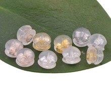 10pcs/lot 18K Gold Silicone Ear Plugs DIY Earrings Accessories Plugs Earplugs Ear Piercing Plug Caps
