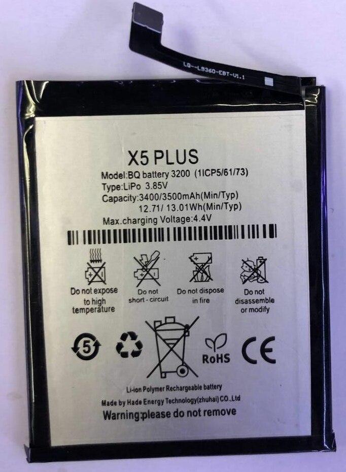 Batería de alta calidad de 3200mAh para BQ Aquaris X5 Plus BQ batería 3200 Bateria baterías
