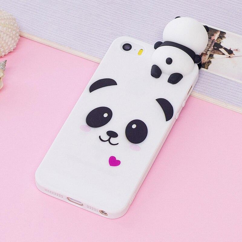 Чехол для iPhone, чехол для iPhone 5, чехол для iPhone 5 с объемным мультяшным рисунком панды, единорога, чехол для iPhone 5s, 5 s, 5SE, задняя крышка для iPhone 5, SE, ...