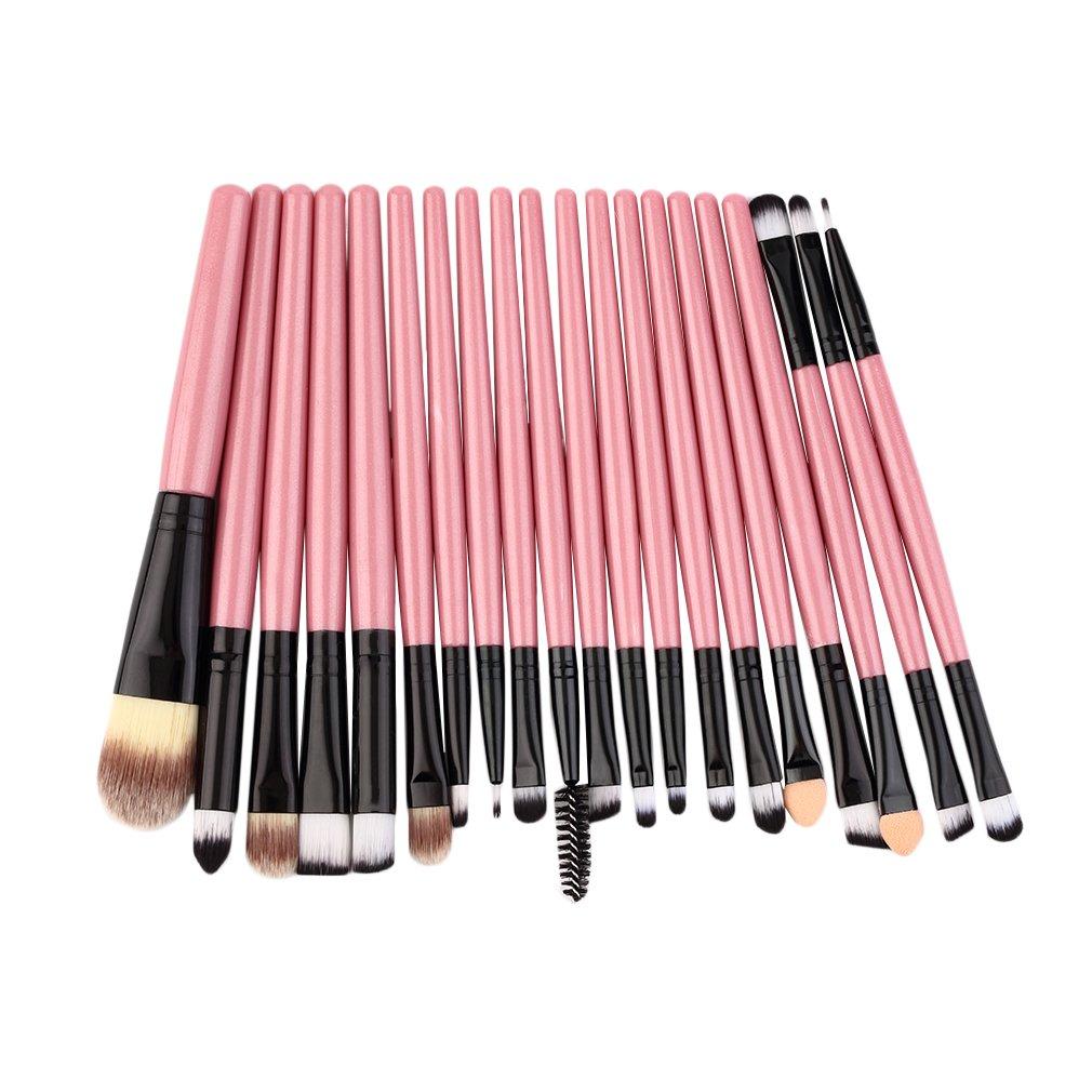 Paquete de brochas profesionales de 20 piezas, Kit completo de brochas de maquillaje, Kit profesional o informal de uso personal