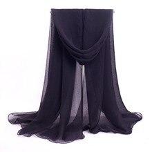 High Fashion Mujeres Bufanda Chal Black Womens Scarf Chiffon Big Scarves Novelty Shawl Dropshipping Size 140 x 170cm WS027-E
