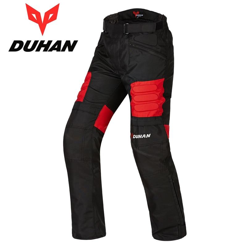 Duhan hombre viento moto Pantalones motocicleta montaña Ciclismo Pantalones recta Pantalones hombres motocicleta larga Pantalones hip protector