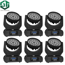 6pcs/lot 36 * 18 Watt Led Moving Head Zoom Light Wash Lighting RGBWA UV 6in1 Color Dj Lighting Pro Stage Wash Fixture