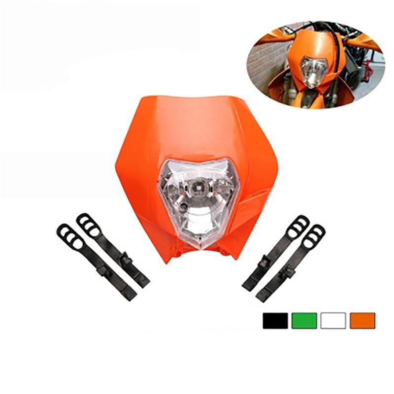 KTM motocross universal modification accessories headlights Grimace lights ghost mask motor vehicle headlights 12V