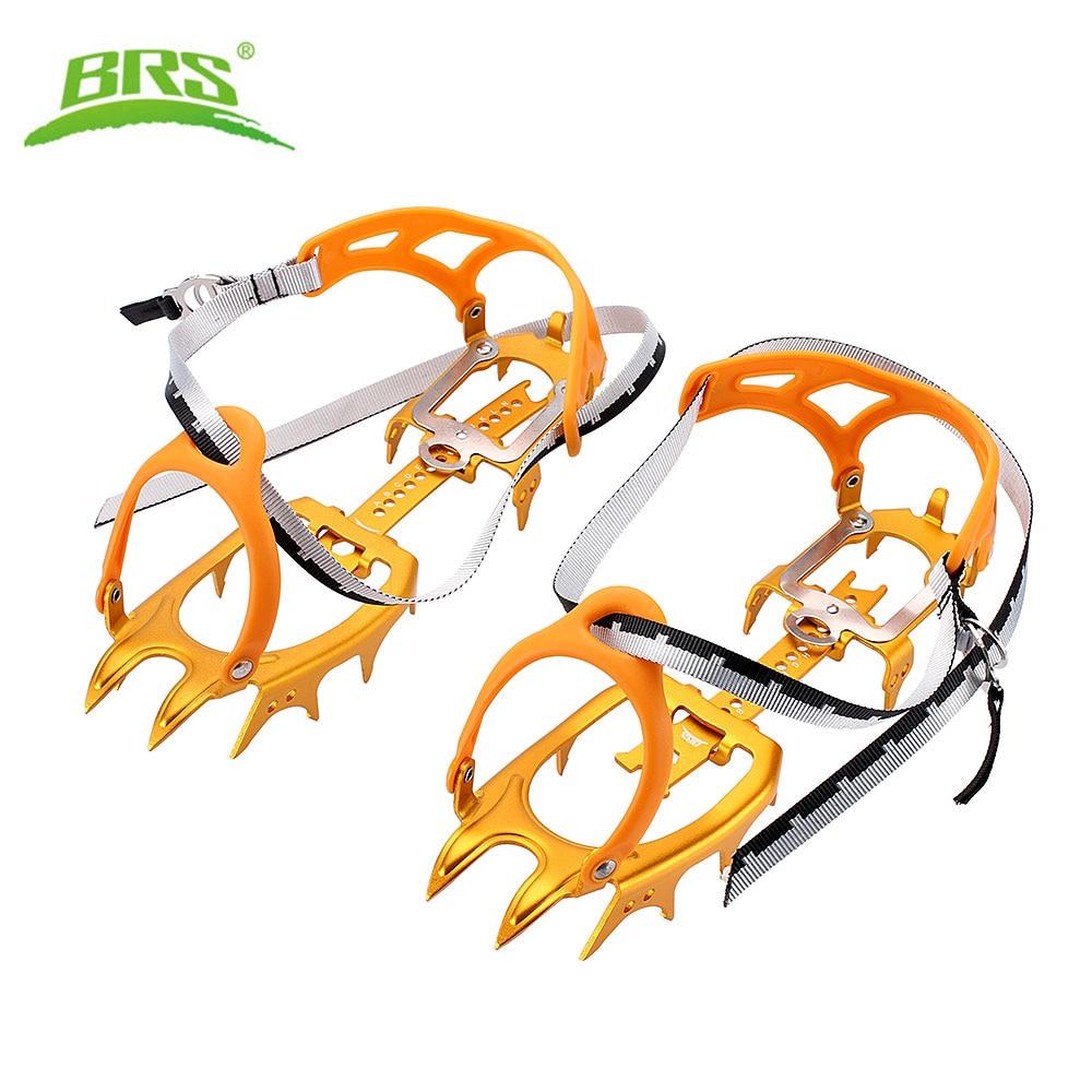 BRS-S3-طقم تسلق الجليد في الهواء الطلق ، 14 سنًا من سبائك الألومنيوم ، مجموعة تسلق الجليد ، Crampons للأحذية