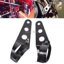 35 ~ 43 мм Монтажный кронштейн для фар мотоцикла серебристый/черный держатель лампы вилка для Chopper Bobber Cafe Racer для Harley Honda