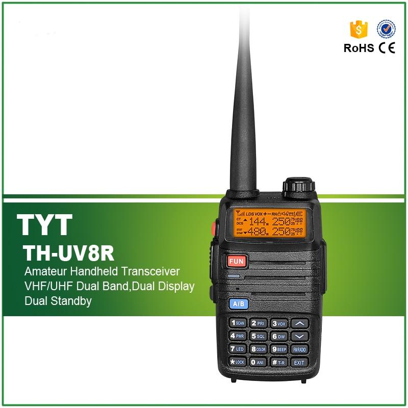 Heißer Verkauf 5 watt Dual Band TYT TH-UV8R Handheld Radio Set FM Walkie Talkie TH UV8R