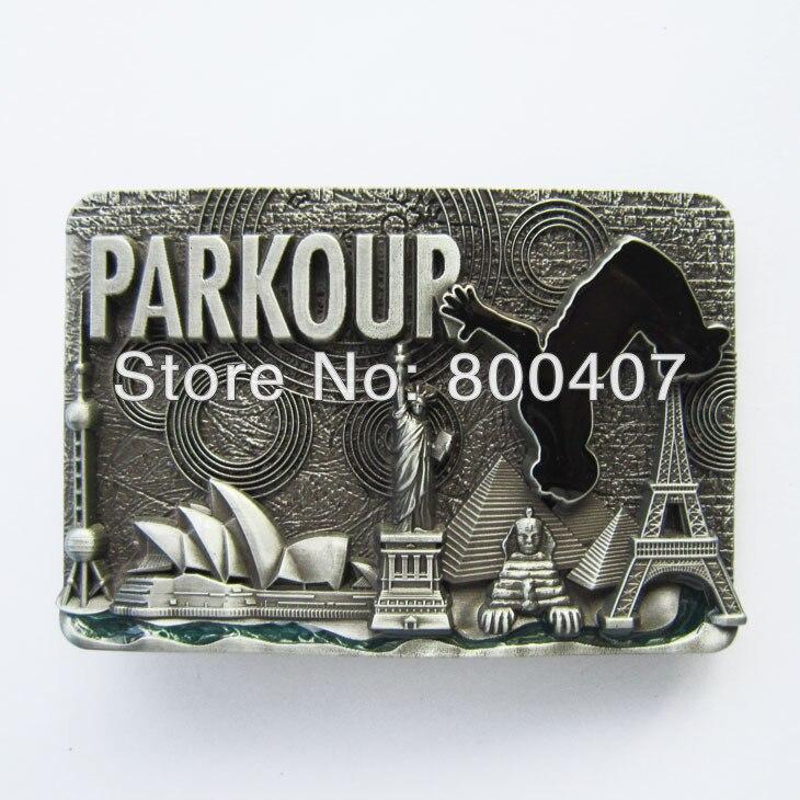 Venta al por menor distribuir Le Parkour a todo el mundo hebilla de cinturón BUCKLE-T117 envío gratis