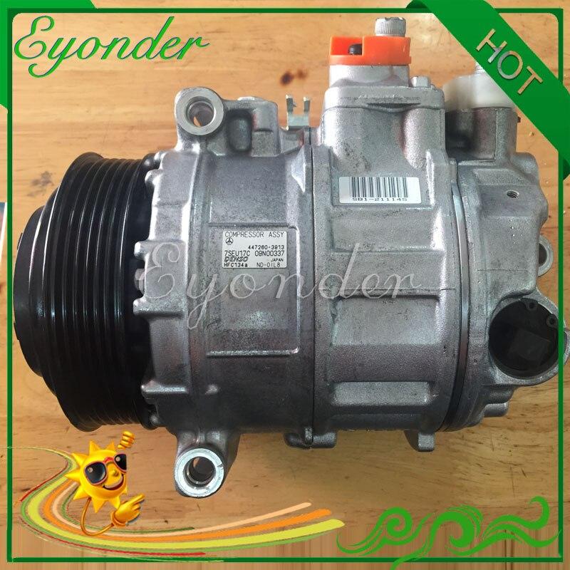 7SEU17C AC A/C/compresor de refrigeración de aire acondicionado de la bomba de PV6 para MERCEDES-BENZ S-CLASS W221 S350 CGI 447150-1860, 447260-3913