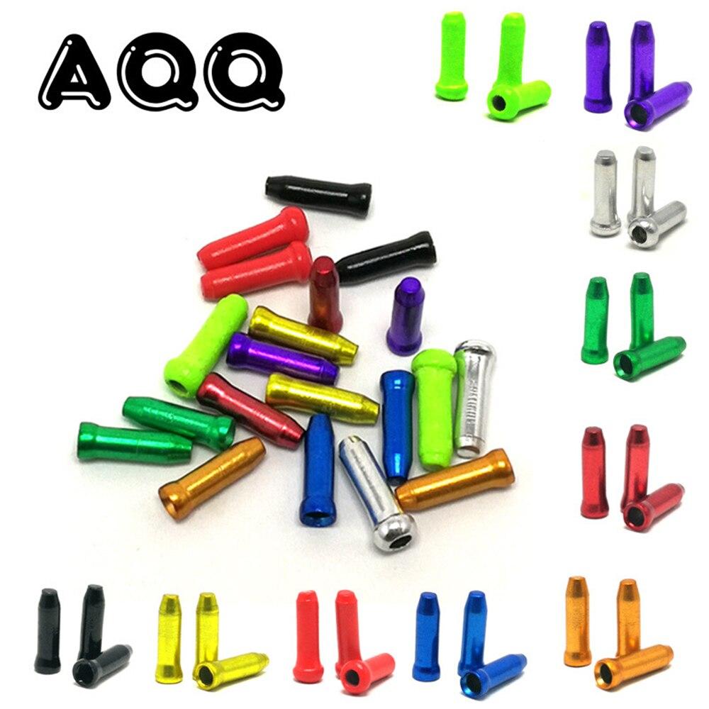 50 шт./лот, алюминиевый сплав, концевые колпачки для велосипедного кабеля, MTB, дорожный Велосипедный тормозной кабель, колпачок для провода, колпачок для переключения тормозов