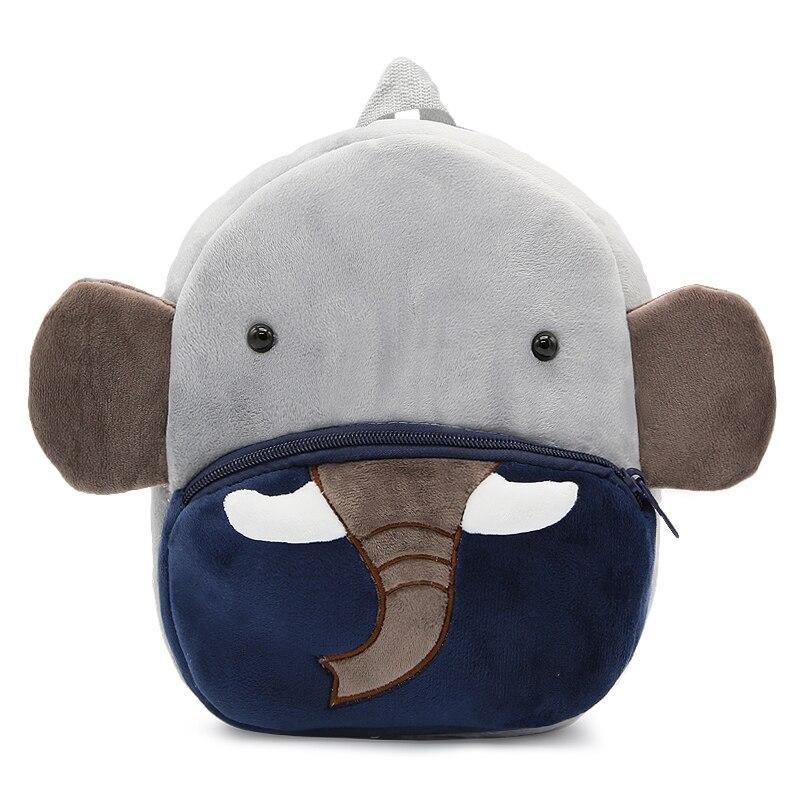 Школьная сумка для детей с милыми мультяшными животными и слонами, плюшевая сумка для маленьких девочек и мальчиков, маленькие мягкие сумки для детских садов