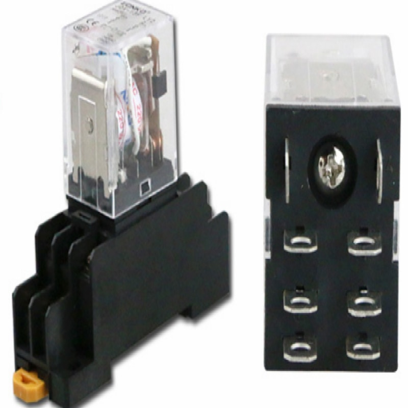 10A HH62P-relais électromagnétique AC12v   Relais intermédiaire 12v 24V, relais rele DC110V DC36V, huit pieds, livraison gratuite