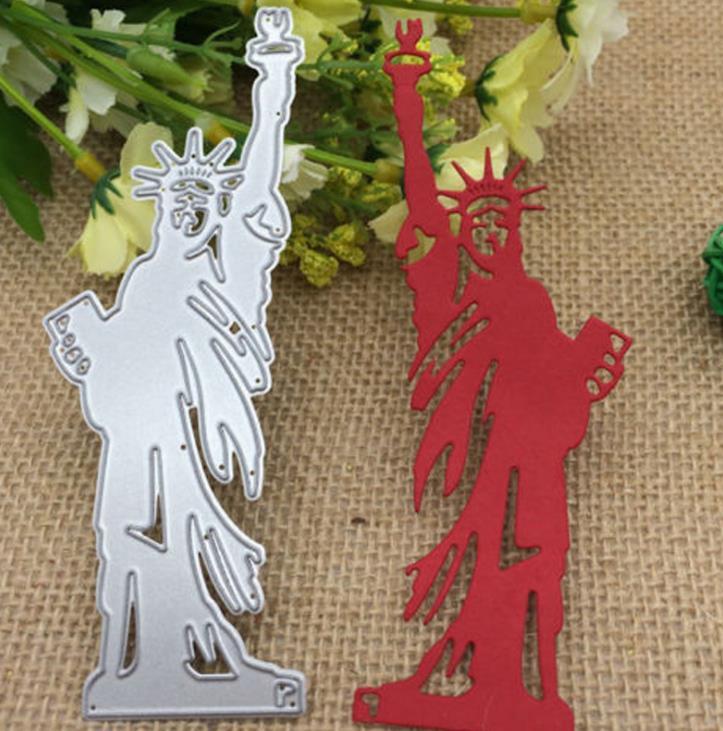 Estatua de Libert, troqueles de corte de Metal, plantillas para hacer tarjetas, grabado decorativo, tarjetas de papel, DIY, troqueles para álbum de recortes