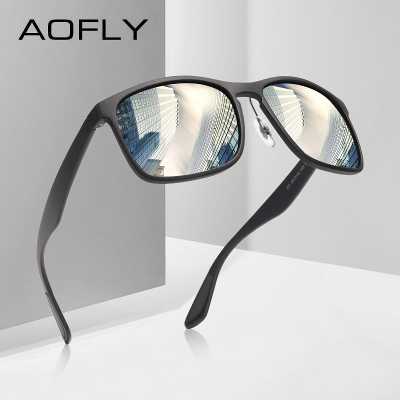 AOFLY BRAND DESIGN Polarized Sunglasses Men Driving Sunglasses Coating Fishing Driving Eyewear Male Goggles UV400 Oculos AF8121