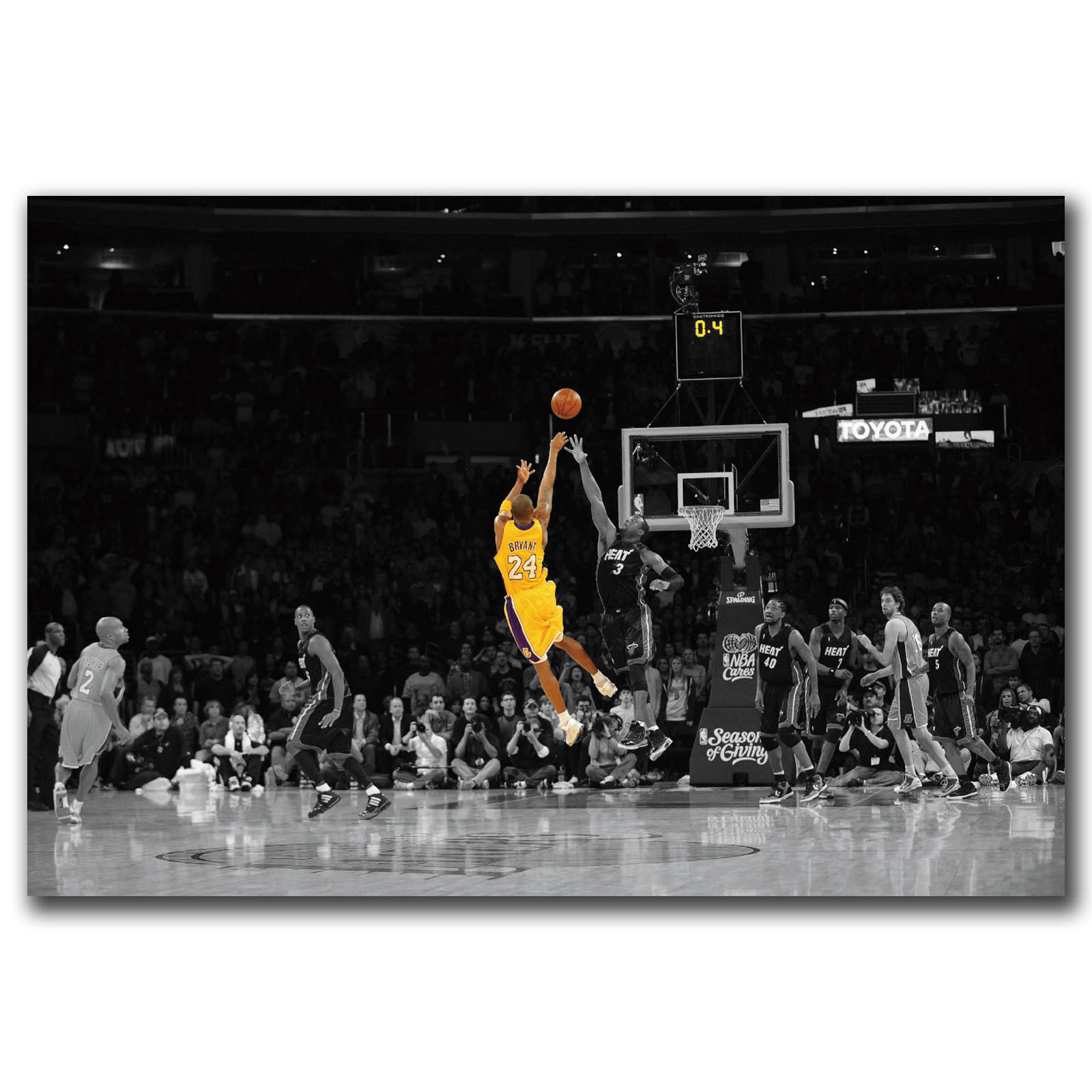 Q0913 pósteres e impresiones Kobe Bryant baloncesto LeBron James Hot 18 24x36in Póster Artístico de lienzo pintura decoración del hogar