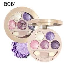BOB brand Eyes Shadow Palette Eyes Makeup Women Eye Shadow Powder Shimmer Warm Diamond Colors Baked Eyeshadow with Brush