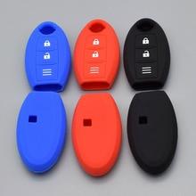 Boîtier de protection pour Nissan Micra Murano Juke Alissa Pulsar x-trail 3 boutons   En Silicone, 10 unités, protection à distance